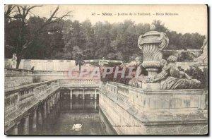 Postcard Old Nimes Fountain Gardens Roman Baths