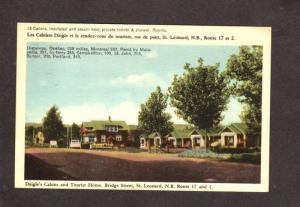NB Daigle Cabins Tourist Home St Leonard New Brunswick Carte Postale Postcard