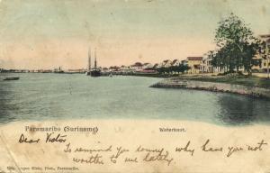 suriname, PARAMARIBO, Waterkant (1899) Eugen Klein Postcard