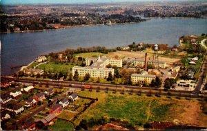 Virginia Norfolk Aerial View U S Public Health Service Hospital 1957