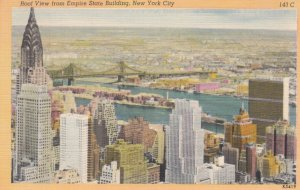 NEW YORK CITY, New York, 1930-40s; Roof View from Empire State Building