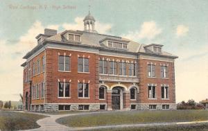 West Carthage New York~High School Built 1905~1909 Postcard