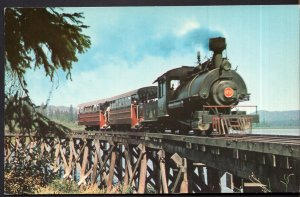 BC DUNCAN Cowichan Valley Forest Museum Hwy 1 Samson No. 25 Saddle Tank Chrome