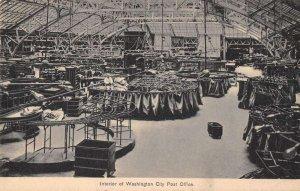 Washington DC Post Office Mail Sorting Room Vintage Postcard AA34152