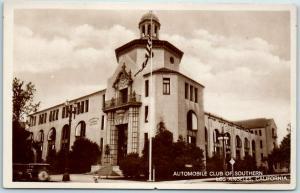 Vintage RPPC Real Photo Postcard AUTOMOBILE CLUB OF SOUTHERN CALIFORNIA 1910s