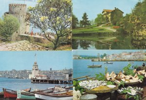 Istanbul Turkey 4x Water Fishing River Views Postcard s