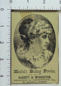 Babbitt & Worcester Henkel's Baking Powder Lovely Actress Blanche Bradshaw F63