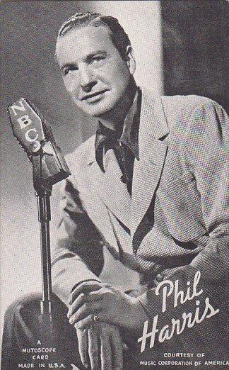 Vintage Mutoscope Card Phil Harris