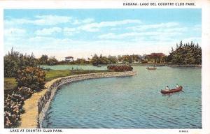 Cuba Havana Habana Lago del Country Club Park, Lake, Boats