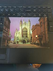 Vintage Postcard: Bath Floodlit View of the Abbey & the Pump Room