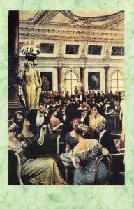 Postcard Nostalgia High Society 1890's Savoy Hotel London Reproduction Card