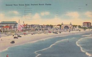 Florida Daytona General View Of Ocean Front 1941