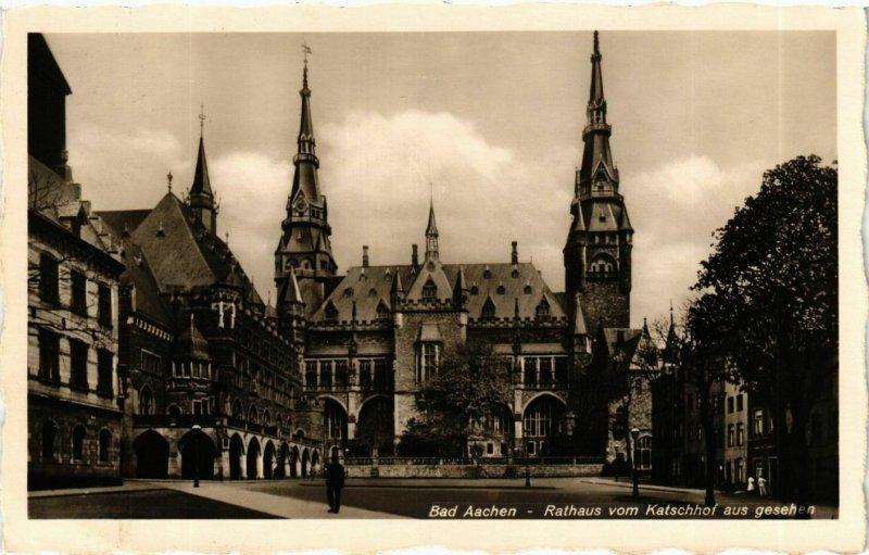 CPA AK Aachen Rathaus vom Katschhof aus gesehen GERMANY (938391)