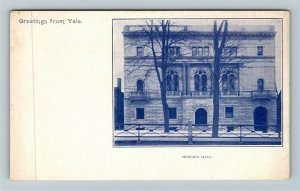 New Haven Connecticut, Greetings Yale University Hendrie Hall, Vintage Postcard
