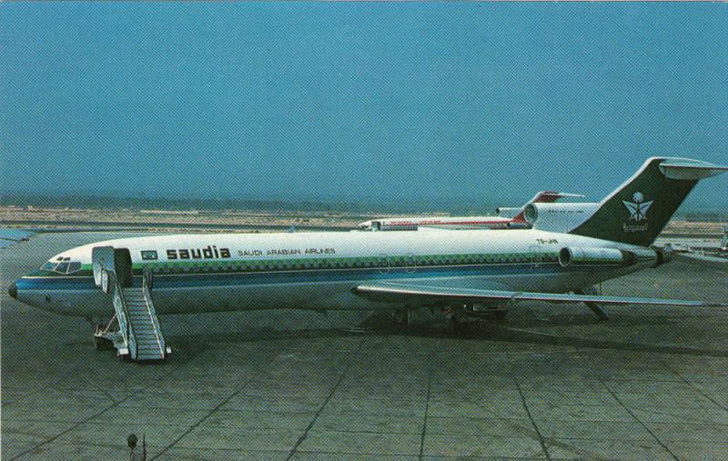 SAUDI Arabian AirlinesBoeing 727-2H3 Jet Airplane , 60-70s