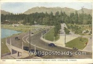 British Columbia, Canada Main Diversion Entrance, Stanley Park Vancouver  Mai...