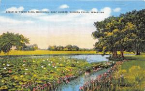 Wichita Falls Texas~Weeks Park-Municipal Golf Course~Pond w Lily Pads~1947 Pc