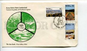 293275 Turkish Northern Cyprus 1989 year First Day COVER development