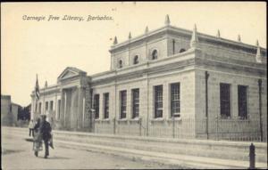 barbados, B.W.I., BRIDGETOWN, Carnegie Free Library (1910s)