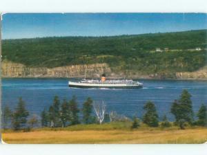 Pre-1980 FERRYBOAT SCENE Digby Nova Scotia To St. John New Brunswick NB AF4042