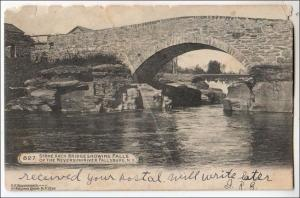 Stone Arch, Neversinkriver, Fallsburg NY   (crease, wear)