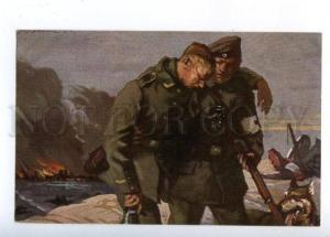 159675 WWI German Shepherd Dog RED CROSS Dead Wounded Soldier
