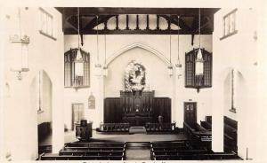 Rutherford New Jersey Church Interior Real Photo Antique Postcard K107933
