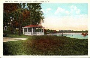 New York Seneca Falls Van Cleef Park and Bandstand