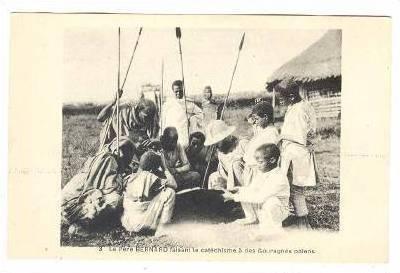 Le Pere BERNARD faisant le catechisme a des Gouraghes paiens, Ethiopia , 00-10s