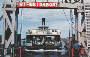 Jamestown Ferry arriving at NEWPORT, Rhode Island, PU-1961