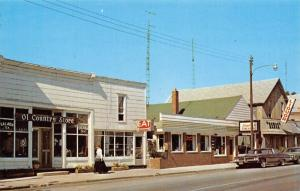Honor Michigan~Money's Coffee Shop~Old Country Store~Liquor~1960s Cars~Postcard