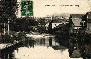 CPA Champagnole- vue sur l'Ain et les Forges FRANCE (1043327)