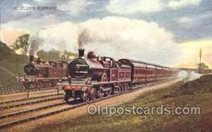 Midland Express Train Trains Locomotive, Steam Engine,  Postcard Postcards  M...