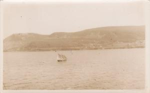 RP, Sailboat Along The Coastline To NEWFOUNDLAND, Canada, 1900-1910s