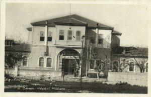 PC CPA SYRIA, DAMAS, HOPITAL MILITAIRE, Vintage REAL PHOTO Postcard (b16571)
