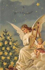 Angel Post Card, Angles Postcard Merry Christmas 1906