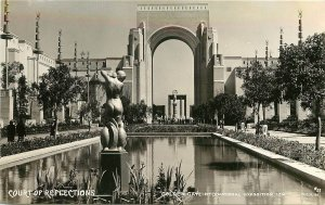 1939 RPPC 57 Golden Gate Exposition San Francisco CA Court of Reflections Moulin