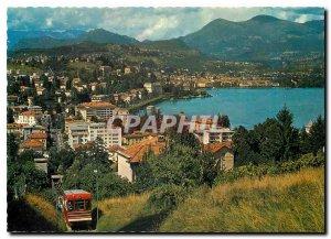 Modern Postcard Lugano-Paradieso