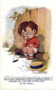 Children Smoking Unused crease bottom right edge, light corner wear, Unused