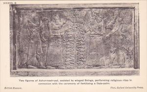 Palace of Assur wall panel , Iraq , 00-10s :Two figures of Ashur-nasir-pal