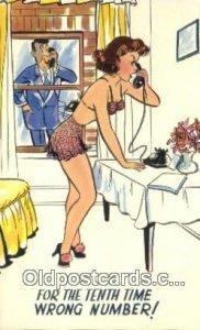 Comic Comical Postcard Post Card Old Vintage Antique Unused