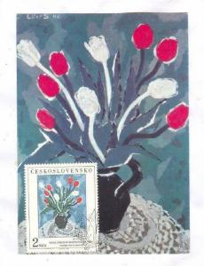 Maximum Flower postcard, Ceskoslovensko, PU-1987
