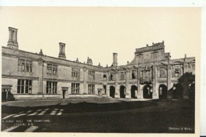 Northamptonshire Postcard - Kirby Hall - The Courtyard Looking N.W. - Ref 14809A