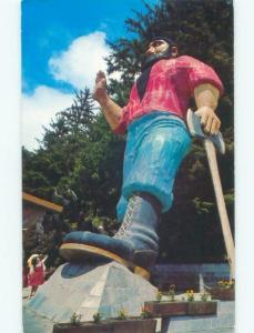 Pre-1980 Trees Of Mystery PAUL BUNYAN STATUE Klamath Near Crescent City CA E7884