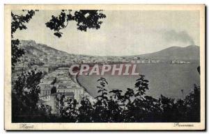 Old Postcard Panorama Napoli