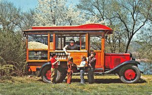 Parke County IN Maple Fair Popcorn Wagon Postcard