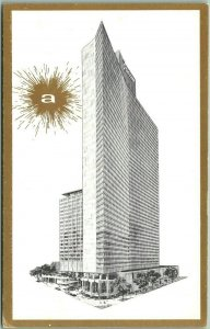 1960s New York City Postcard AMERICANA HOTEL Artist's Building View Unused