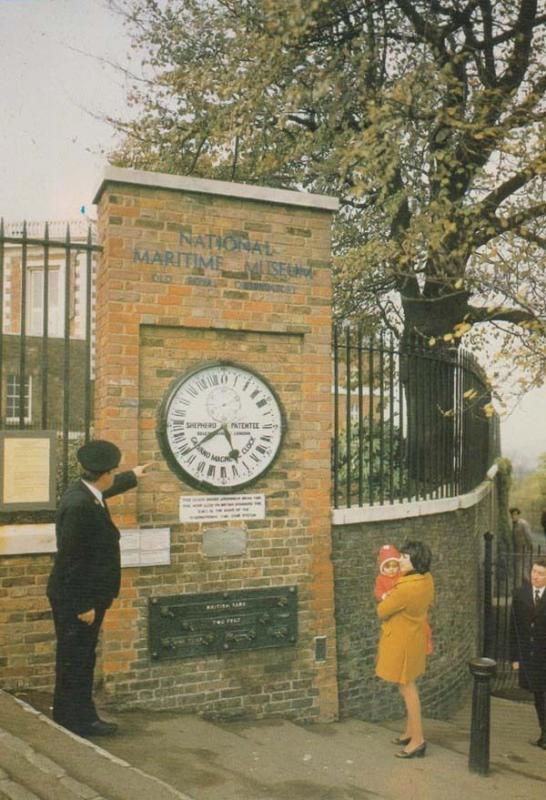 National Maritime Ship Museum Royal Observatory Clock Entrance + Guard Postcard