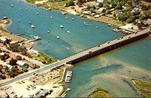 Massachusetts Cape Cod South Yarmouth Aerial View Bass River Bridge