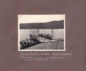 John O Groats Hotel To Kylescu Ferry 1953 Map Photo Collection